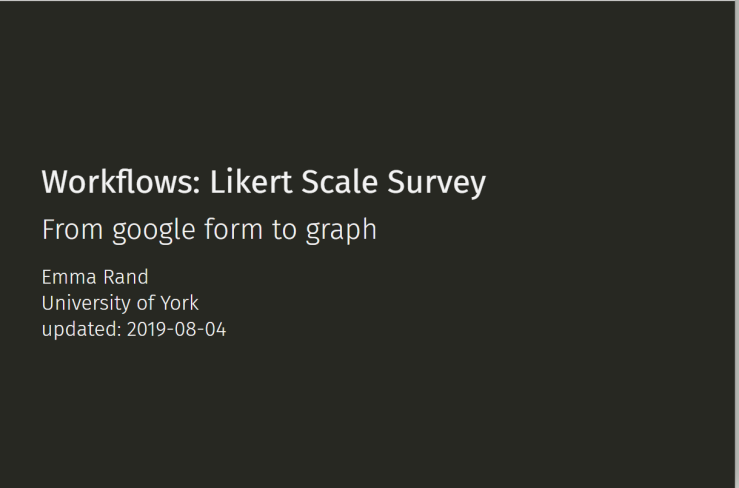 Likert Scale Survey: from googleform to #rstats graph